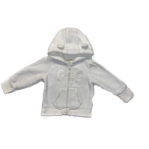 GAP Off White Hoodie with Ears Baby White 18-24M